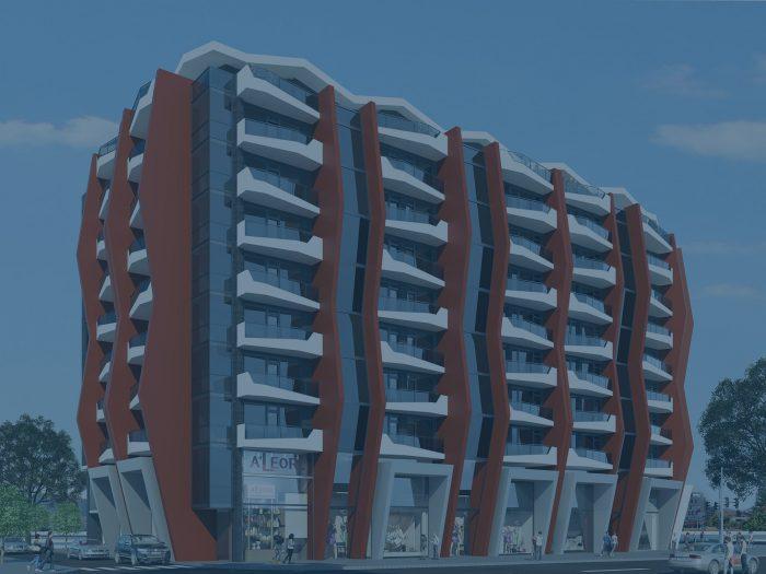 Многофамилна жилищна сграда в Кърджали с търговски площи и подземни гаражи
